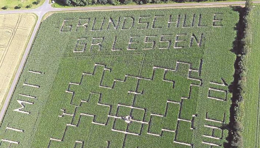 Maislabyrinth in Groß Lessen ist eröffnet